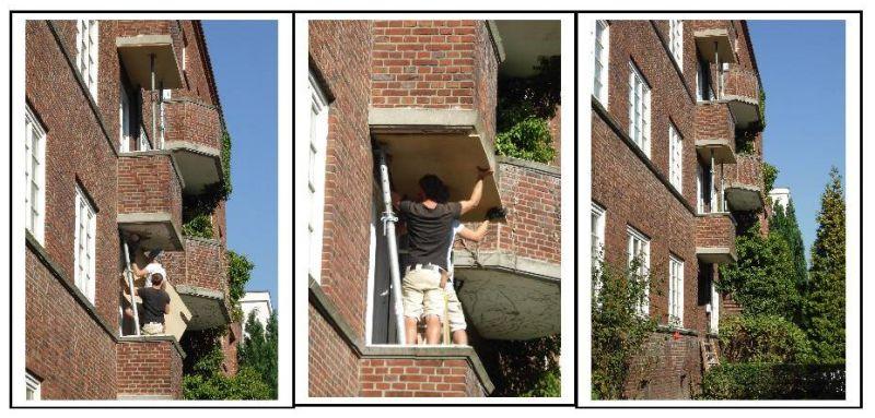 kollage balkonabstützung kl